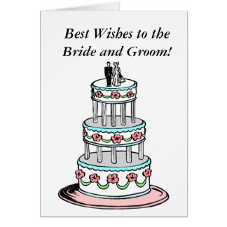 Congratulations Wedding Best Wishes BRIDE & GROOM Card