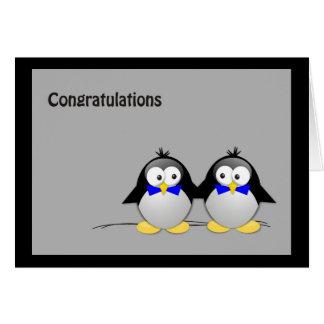 Congratulations Wedding/ Union Gay- Penguins Card