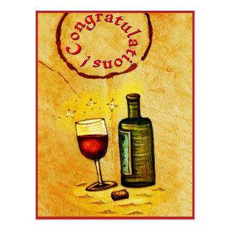 Congratulations! wine card