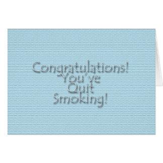 Congratulations You've Quit Smoking! Card