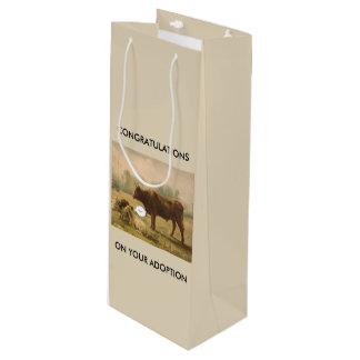Congratulationss on Adoption Wine Gift Bag