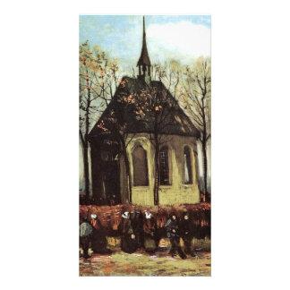 Congregation exiting Church in Nuenen - van Gogh Photo Greeting Card
