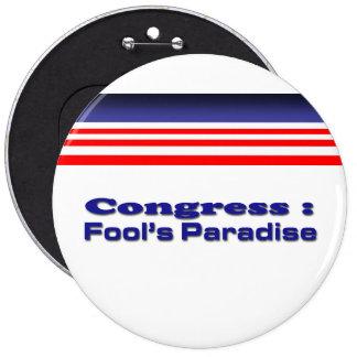 Congress 6 Cm Round Badge