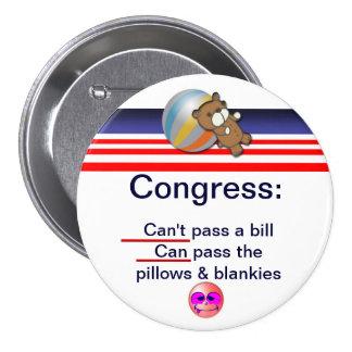 Congress 7.5 Cm Round Badge