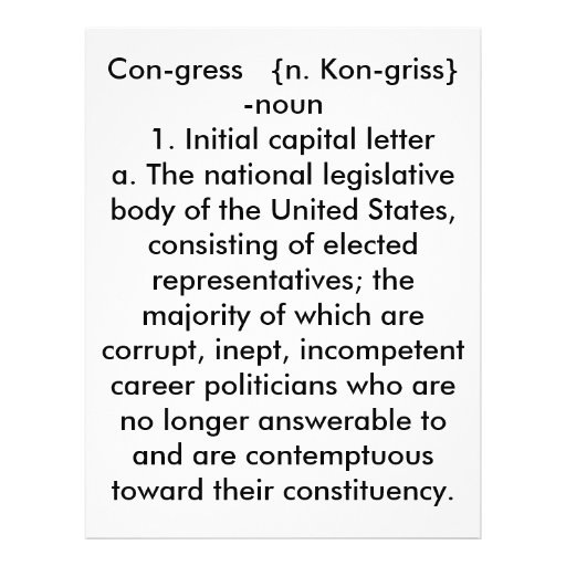 Congress: A definition Full Color Flyer