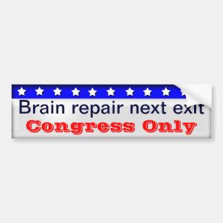 Congress brain repair bumper sticker