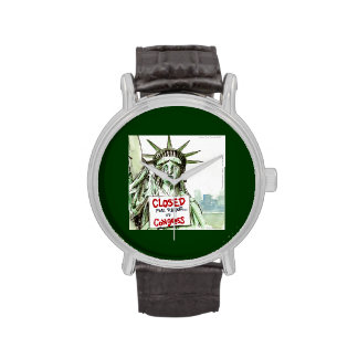 Congress Closed 4 Repair Lady Liberty Funny Watch Wristwatch