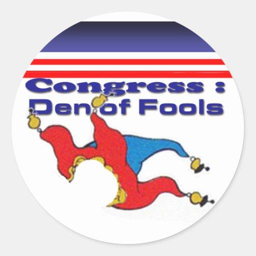 Congress den of fools sticker