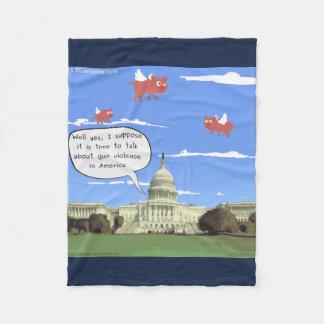 Congress & Gun Talk When Pigs Fly Fleece Blanket