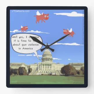 Congress & Gun Talk When Pigs Fly Wall Clock