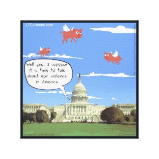 Congress, Gun Violence, & Flying Pigs Canvas Print
