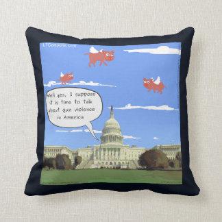 Congress & Gun Violence Talk When Pigs Fly Pillow