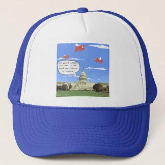 Congress & Gun Violence Talk When Pigs Fly Trucker Hat