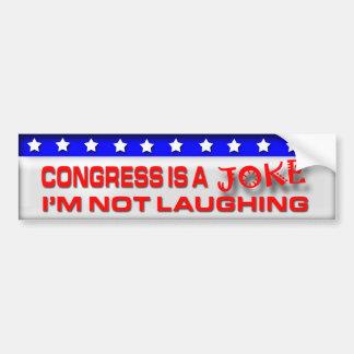 Congress is a Joke Bumper Sticker