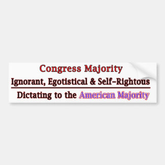 Congress Majority run Amock Bumper Sticker