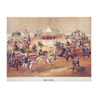 Congress of Nations circa 1875 by Gibson & Co. Stretched Canvas Prints