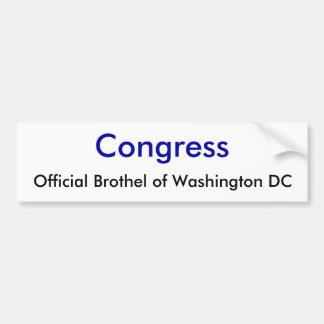 Congress, Official Brothel of Washington DC Bumper Sticker
