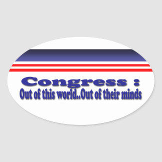 Congress Oval Sticker