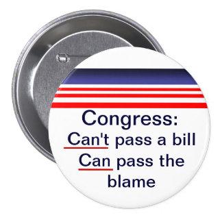 Congress pass the blame pins