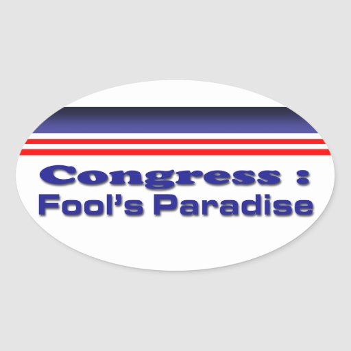 Congress Oval Stickers