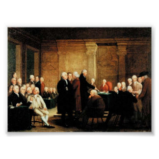 Congress Voting on Declaration of Independence Poster
