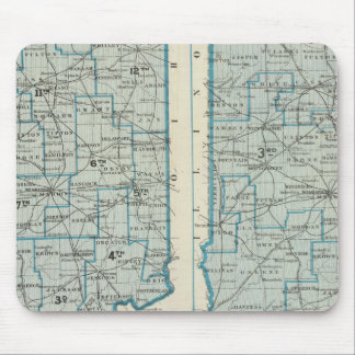 Congressional districts Judicial districts Indiana Mouse Pad