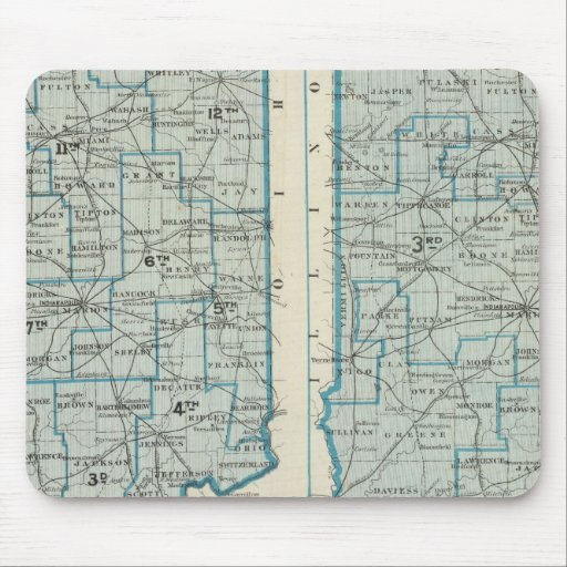 Congressional districts Judicial districts Indiana Mousepad