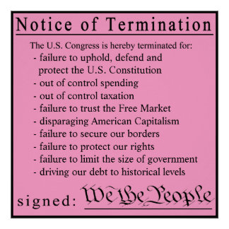 Congressional Pink Slip Poster