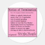 Congressional Pink Slip stickers