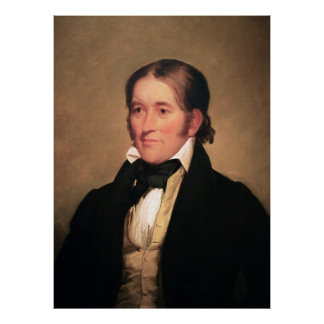 Congressman Davy Crockett by Chester Harding Poster