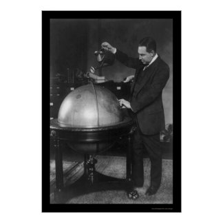 Congressman Pouring Water on a Globe 1926 Poster