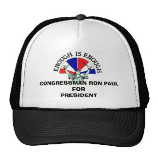 CONGRESSMAN RON PAUL FOR PRESIDENT CAP