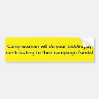 Congressmen respond to Donations Bumper Sticker