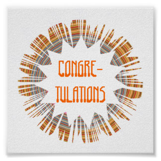 CONGRETULATIONS:  Edit text to your own OCCASION Poster