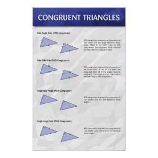 Congruent Triangles Poster