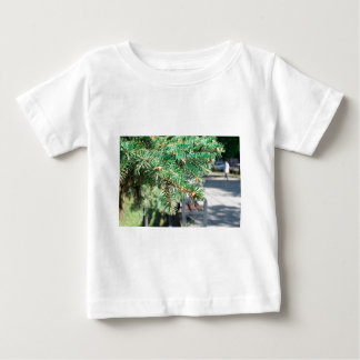 Conifer branch at the city street baby T-Shirt