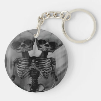 Conjoined Twins Skeleton keychain