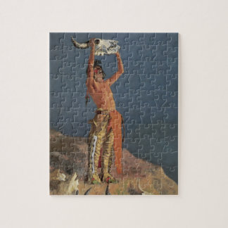 Conjuring Back the Buffalo by Frederic Remington Jigsaw Puzzle