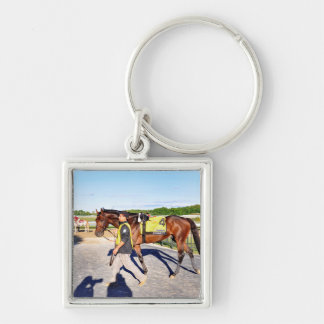 Connect - Pennsylvania Derby Winner Silver-Colored Square Key Ring