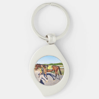Connect - Pennsylvania Derby Winner Silver-Colored Swirl Key Ring