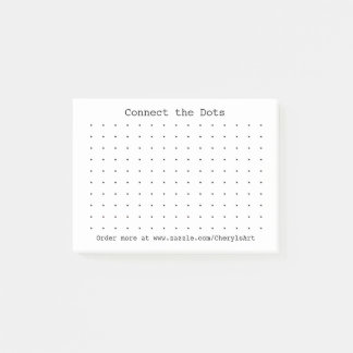 Connect the dots game on Post It Notes