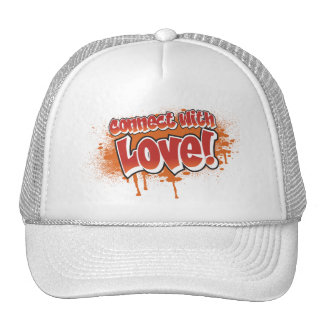 connect with love orange graffiti cap
