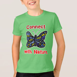 """""""Connect with Nature"""" Kids' American Apparel T-Shi T-Shirt"""