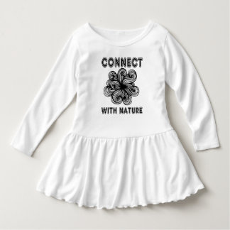 """""""Connect with Nature"""" Toddler Ruffle Dress"""