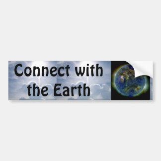 connect with the earth bumper sticker car bumper sticker