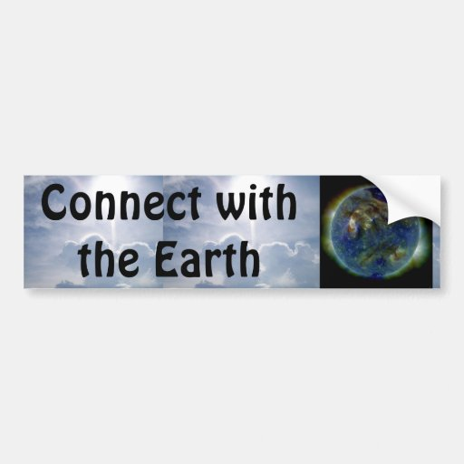 connect with the earth bumper sticker