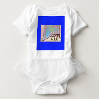 """""""Connecticut 4 Life"""" State Map Pride Design Baby Bodysuit"""