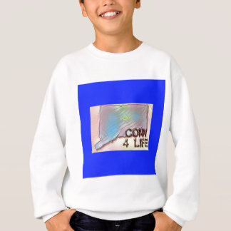 """Connecticut 4 Life"" State Map Pride Design Sweatshirt"