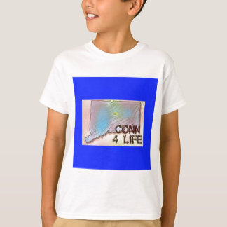 """""""Connecticut 4 Life"""" State Map Pride Design T-Shirt"""