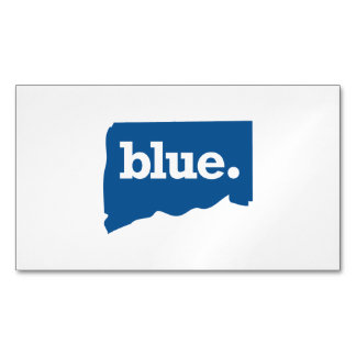 CONNECTICUT BLUE STATE MAGNETIC BUSINESS CARDS